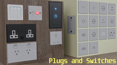 Plug Sockets and Switches as Decals