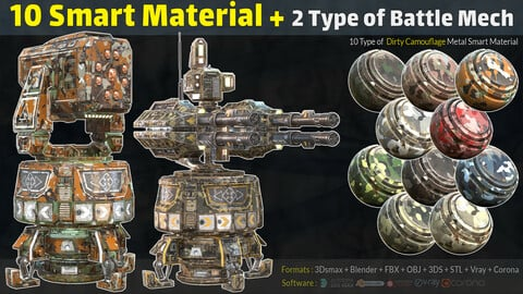 10 Camouflage Smart Material + 2 Type of Battle Mech