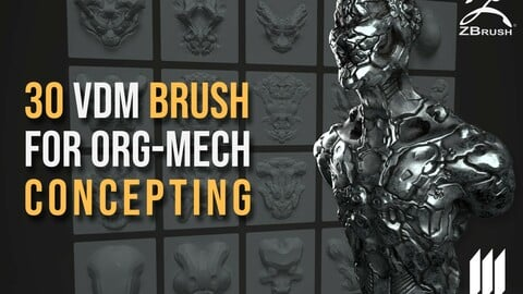 20 VDM Brush For Organic-Mech Concepting In Zbrush