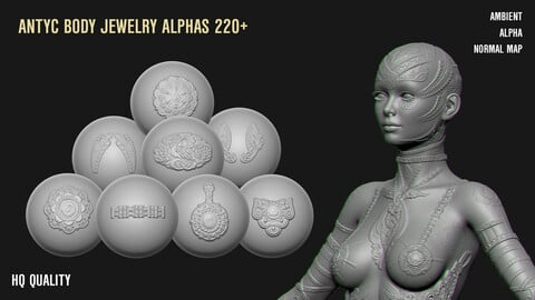 220+ ANTYC BODY JEWELRY AND CLOTH DECORATION ALPHAS
