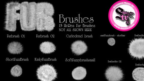 Fur Brushes for Photoshop by Suztv