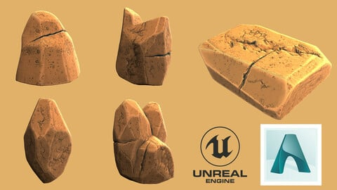 Stylized Rocks - 5 Models