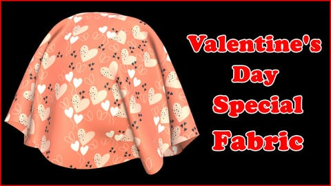 Valentine's Day Special Fabric V1 / Sbsar / Substance Painter