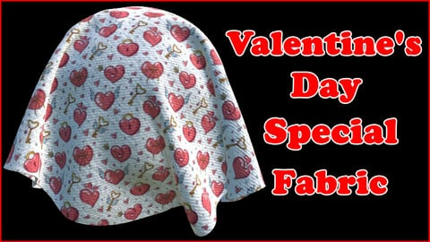 Valentine's Day Special Fabric V5 / Sbsar / Substance Painter