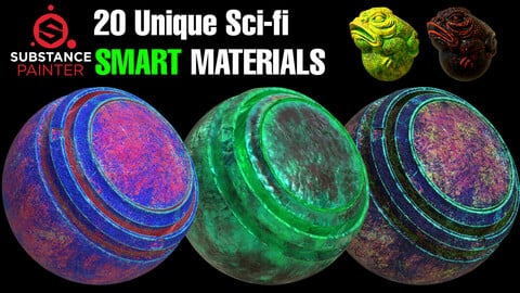 20 Unique Sci-Fi Smart Materials [ Last Sale Day ] 🌟