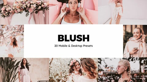 20 Blush LUTs and Lightroom Presets