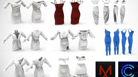 8 casual MD / Clo3D Dresses