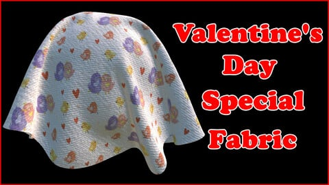 Valentine's Day Special Fabric V9 / Sbsar / Substance Painter
