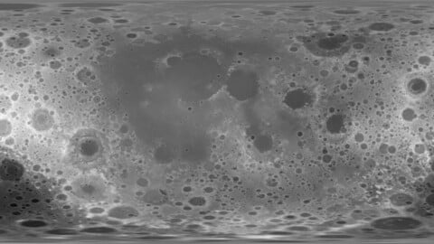 184k Moon Displacement Map 16 and 32 bits (3D files inclued)
