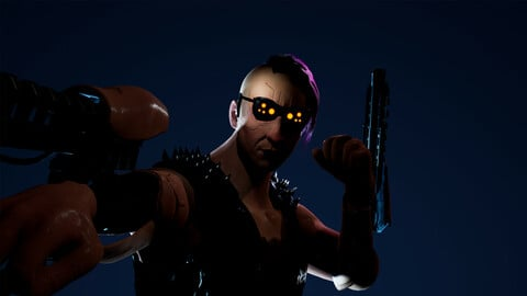 Cyberpunk Thug 1  - Game Ready