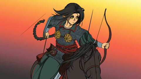 Anime/manga illustration (Flat colour)