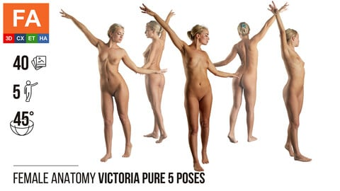 Female Anatomy | Victoria Pure 5 Various Poses | 40 Photos