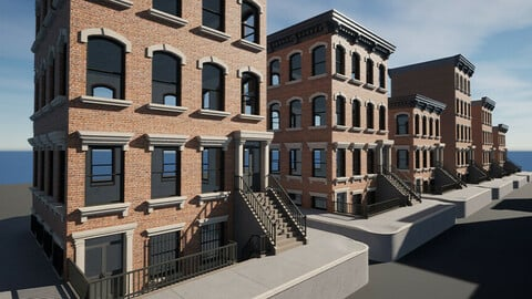 UE4 - City Apartment Building Pack