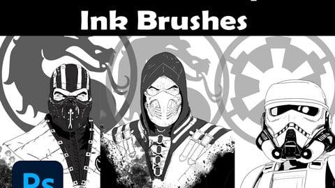 192 Photoshop Ink Brushes
