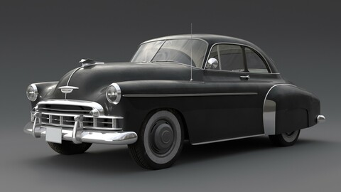 Chevrolet Styleline Deluxe Sport Coupe 1950 Low-poly 3D model
