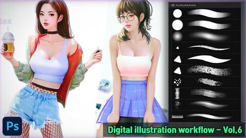Digital illustration workflow - Vol.6