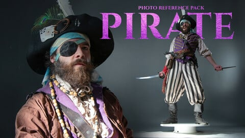 Pirate Photo Reference Pack for Artists 730+ JPEGs