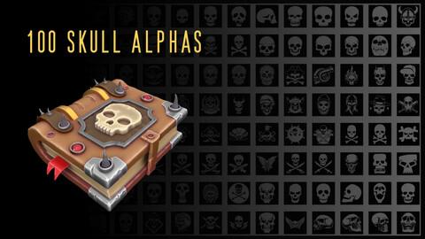 100 Skull alphas