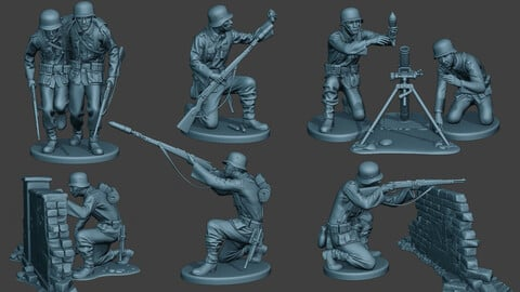 German soldiers ww2 G5 Pack1