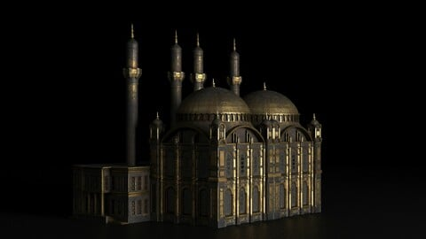 Arabic golden mosque