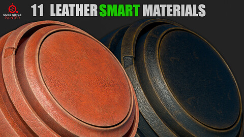 11 Leather Smart Materials Vol. 2 (Substance Painter)