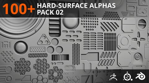 100+ Hard-Surface Alphas - Pack 02
