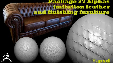 Package 27 Alphas imitation leather  and finishing furniture