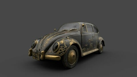 3d Model Cute Beetle Classic Car