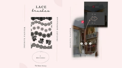 Infinite Painter Lace Brush Pack