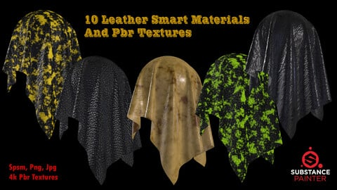 10 Leather Smart materials and PBR Textures