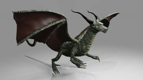 Dragon RPG - Medieval - Dragao 3D model
