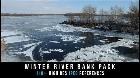 Winter river bank pack
