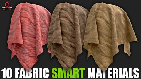 10 Fabric Smart Materials (Substance Painter)