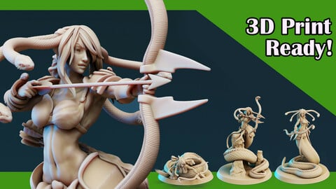 3D Printable Medusa Elites Bundle [Longbows]