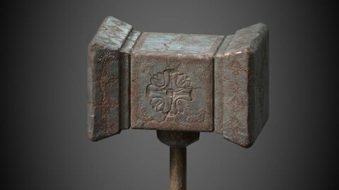 Ancient hammer 3D model.