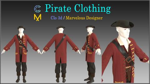 Pirate Clothing / Marvelous Designer, Clo3d project