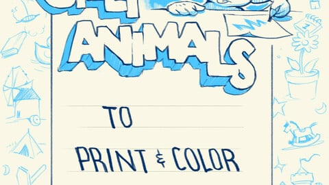 Silly Animals to Print & Color