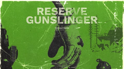 Reserve Gunslinger - Retro Poster - An Escape From Tarkov Film