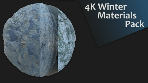 4K Winter PBR Materials Pack