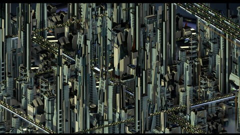 Futuristic-Car-Roads-City v4