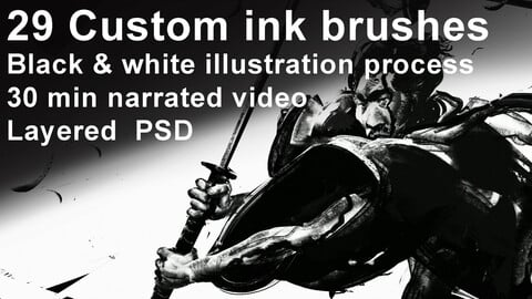 John Powell's custom Ink brushes and Illustration demo!