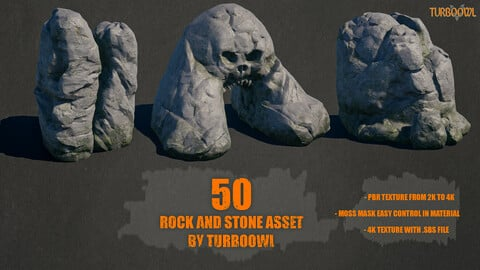 50 Rock and Stone Asset by Turboowl