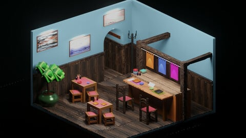 Restaurant Room (Modelling and Texturing)