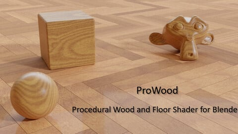 ProWood procedural wood and floor shader for Blender Cycles and EEVEE