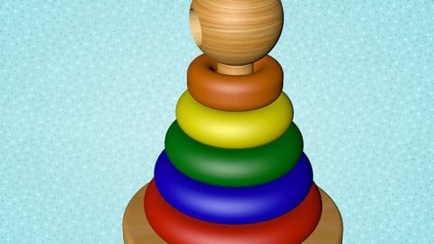 Wooden Color & size Toy