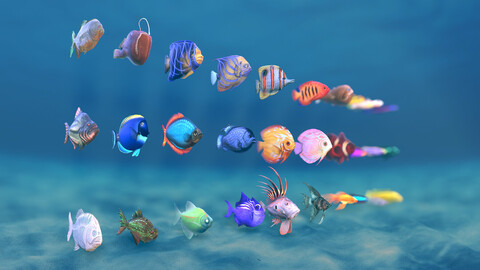 Stylized Small Fishes