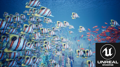 Stylized Small Fishes - UE4