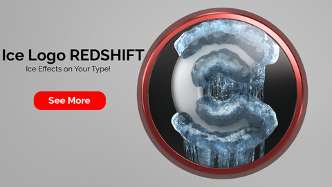 Ice Logo Redshift for Cinema 4D R20 to R22