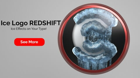 Ice Logo Redshift for Cinema 4D R23