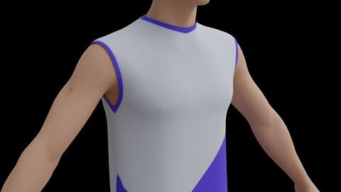 3D sleeveless Jersey - Male jersey